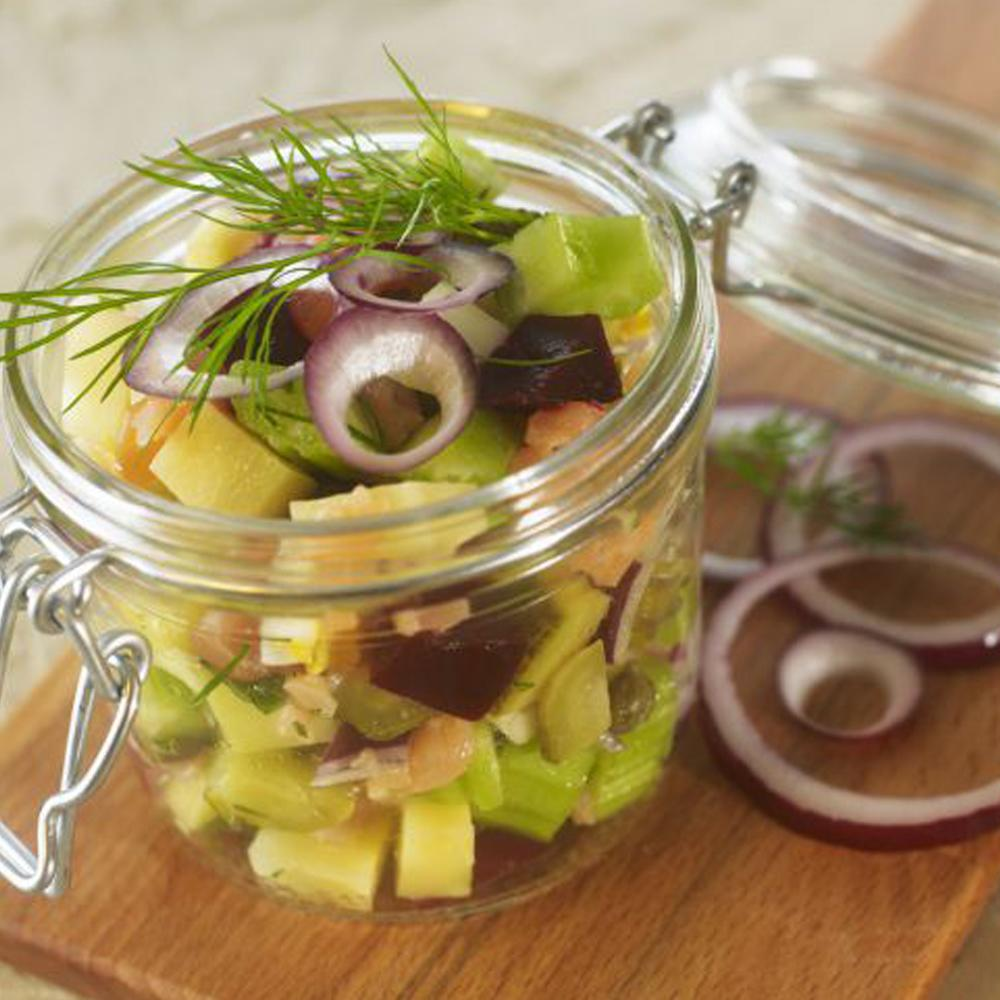 Salade russe de crudit s et saumon fum par vincent for Specialite russe cuisine