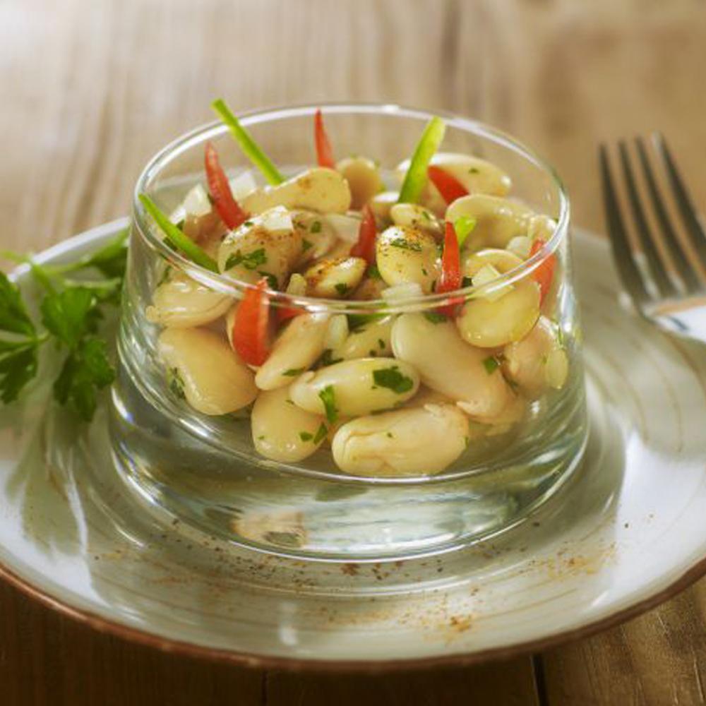 Salade d 39 haricots blancs aux oignons nouveaux par alain - Recette cuisine provencale traditionnelle ...