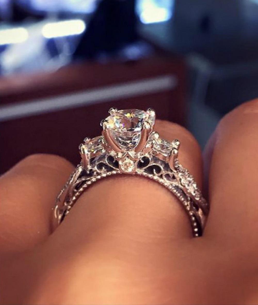 Très La bague de fiançailles la plus populaire sur Pinterest est RK14