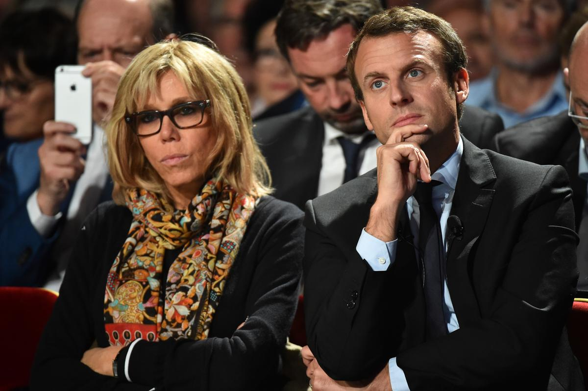 emmanuel macron et brigitte trogneux des images de leur. Black Bedroom Furniture Sets. Home Design Ideas