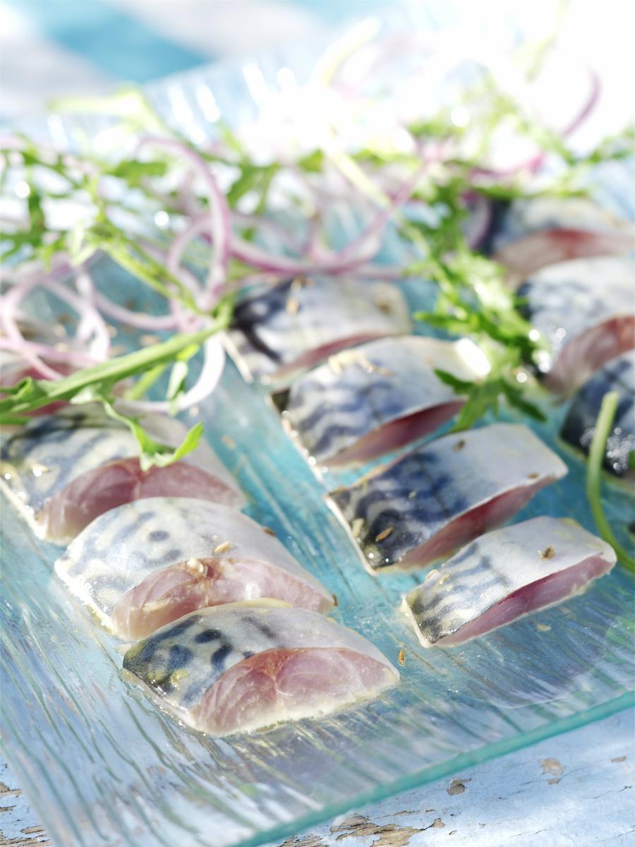 Recette filets de maquereau marin s la moutarde cuisine madame figaro - Cuisiner filet de maquereau ...