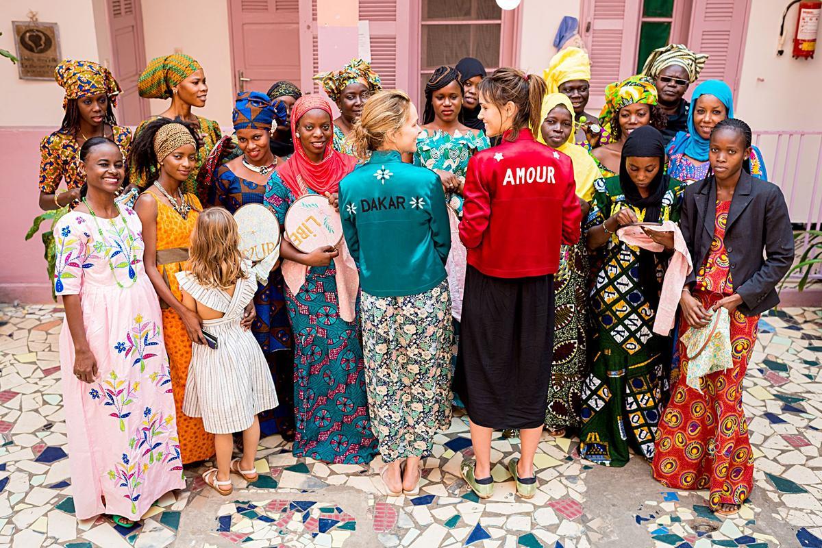 Dakar la maison rose d di e aux femmes et la for Eugenie les bains la maison rose