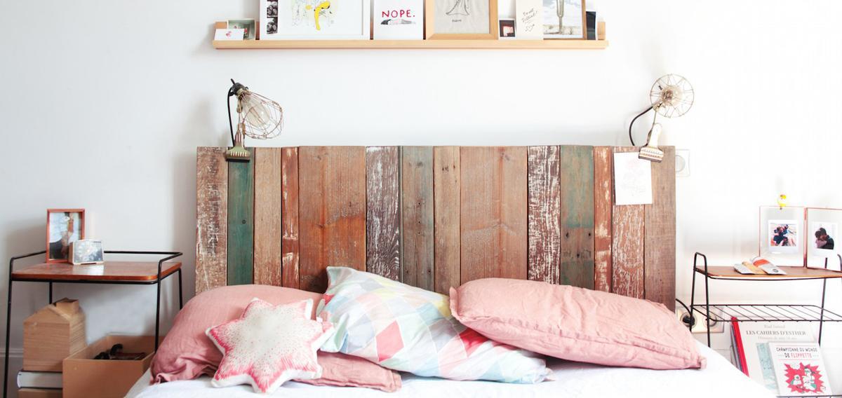 D co de chambre 20 t tes de lit qui nous inspirent madame - Tete de lit tendance ...