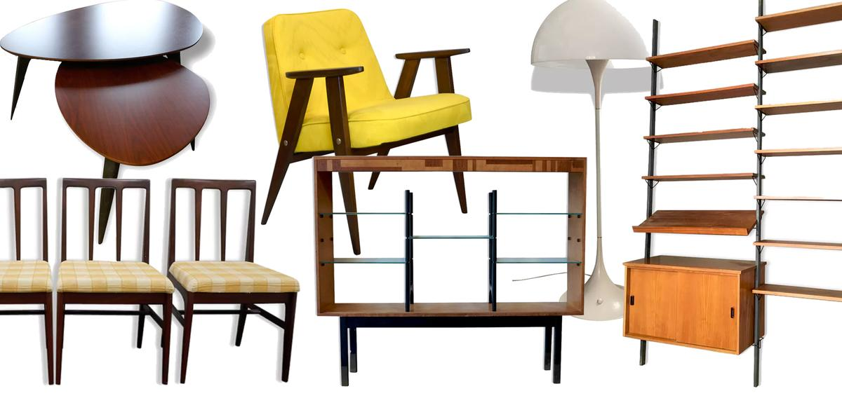 mobilier scandinave 15 pi ces sold es rep r es sur selency madame figaro. Black Bedroom Furniture Sets. Home Design Ideas