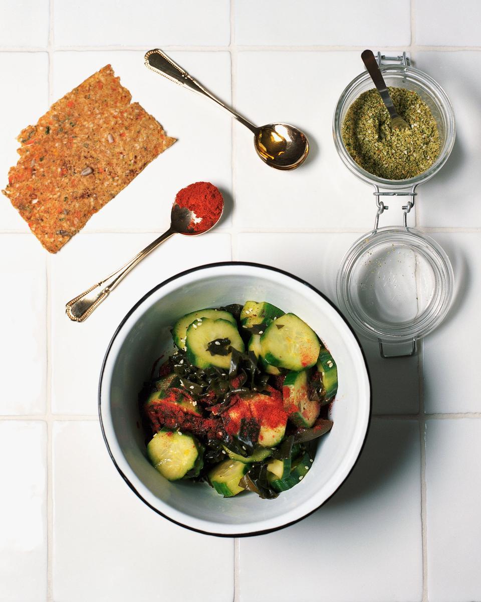 Recette salade de concombre et wakame cuisine madame figaro - Site de recettes cuisine ...