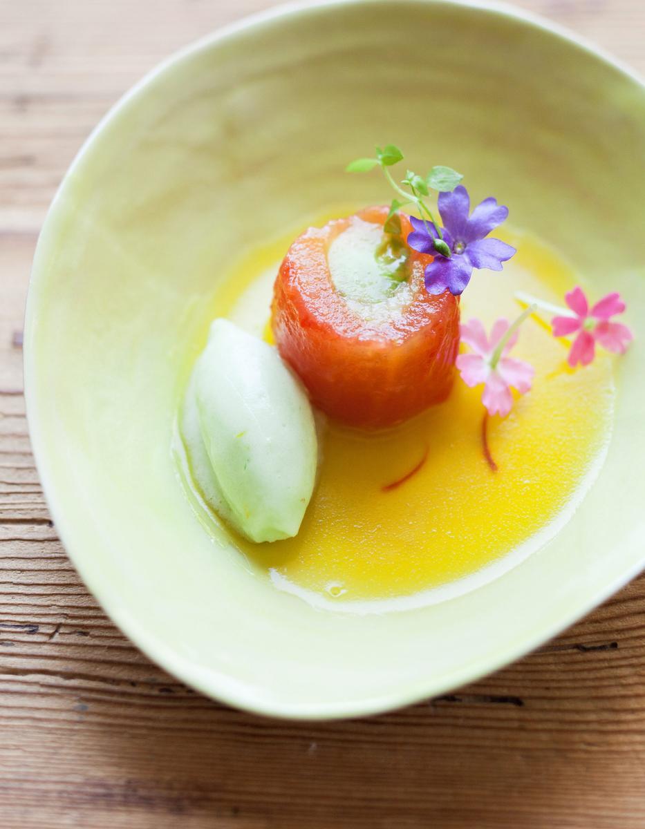 Recette amuse bouche de tomate et concombre du potager for Amuse bouche cuisine