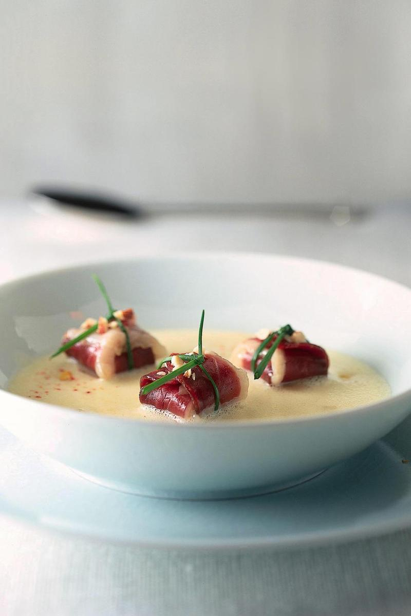 Recette cr me l g re au ma s et magret s ch cuisine madame figaro - Cuisine legere au quotidien ...