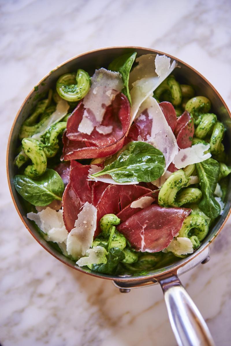 Recette p tes bresaola et pinards l 39 italienne cuisine for Cuisine a l italienne
