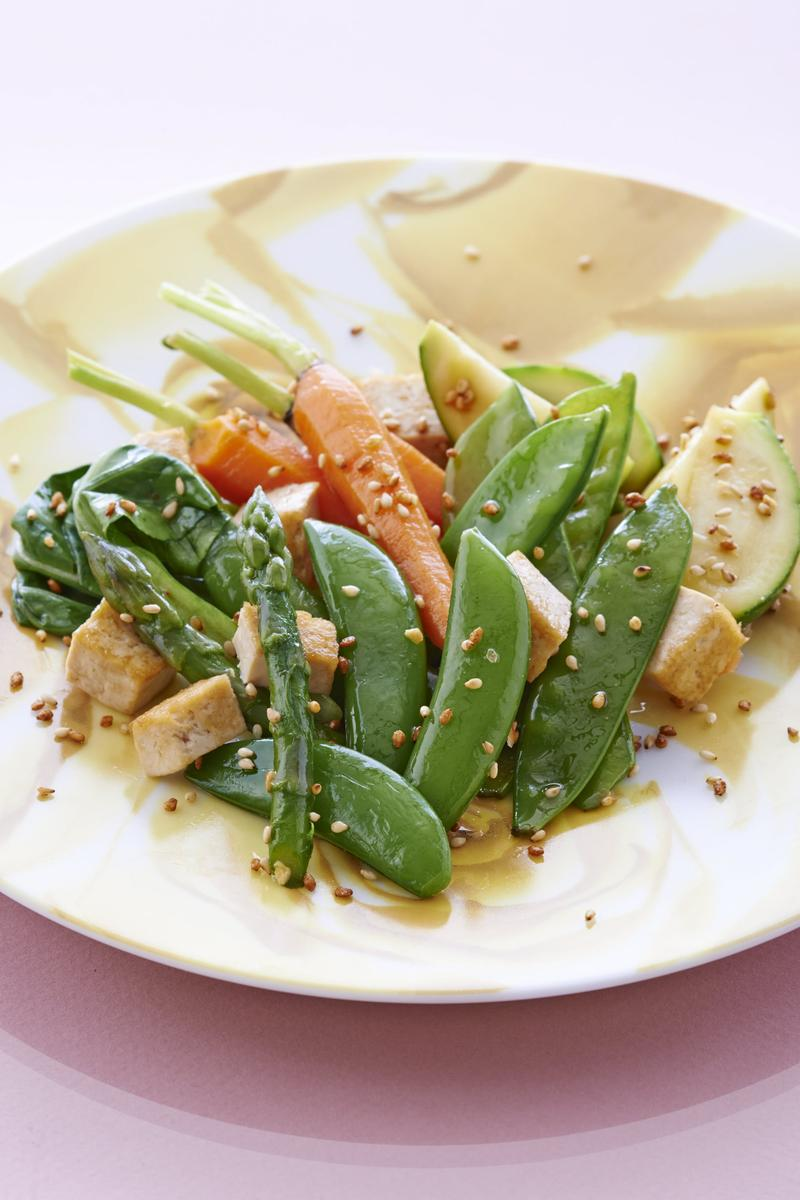 Recette l gumes saut s au tofu cuisine madame figaro - Madame figaro cuisine ...