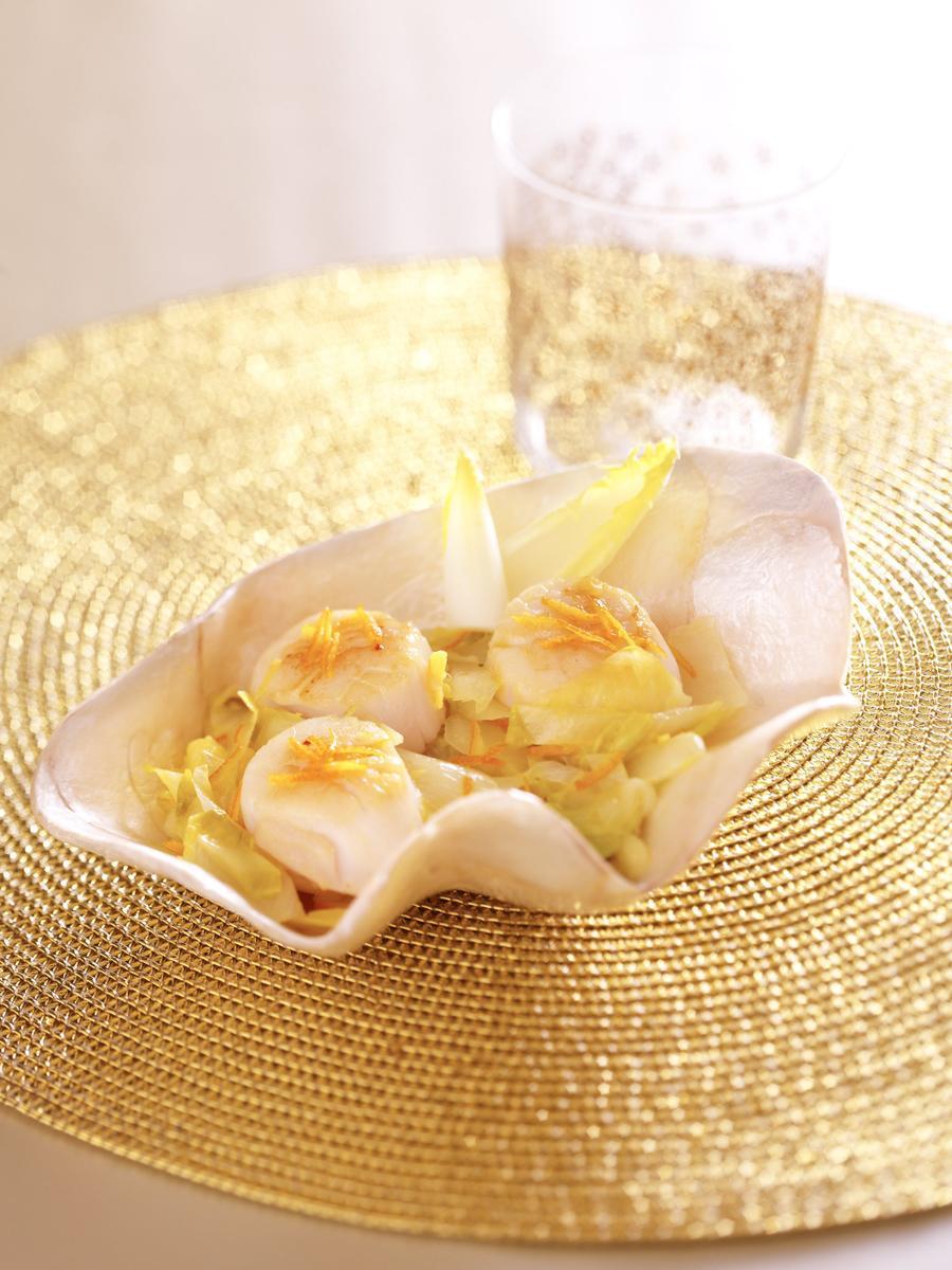 Recette noix de saint jacques la truffe cuisine madame figaro - La cuisine de madame saint ange ...