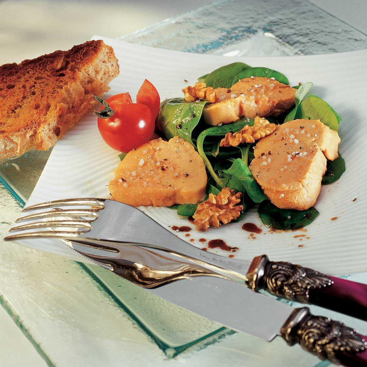 recette foie gras confit au sel de gu rande cuisine. Black Bedroom Furniture Sets. Home Design Ideas