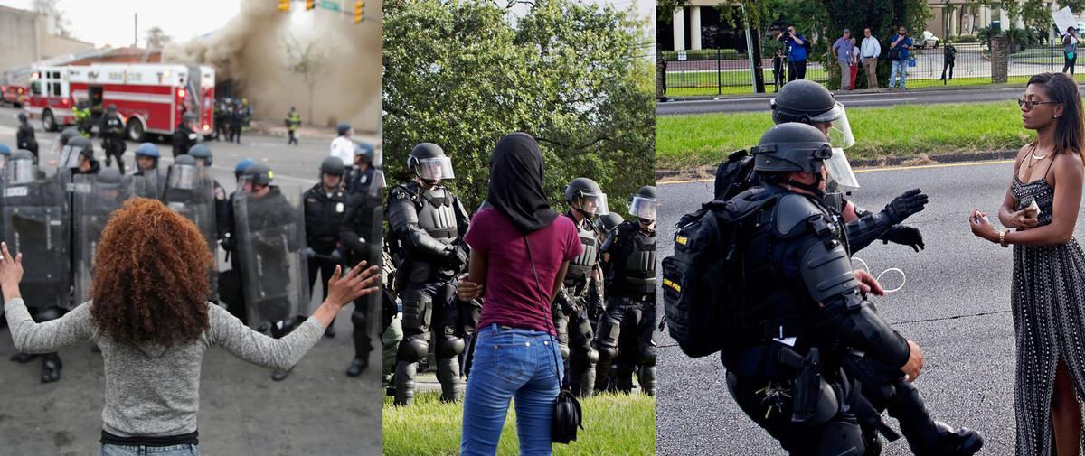 Manifestations : ces femmes stoïques et déterminées face aux policiers