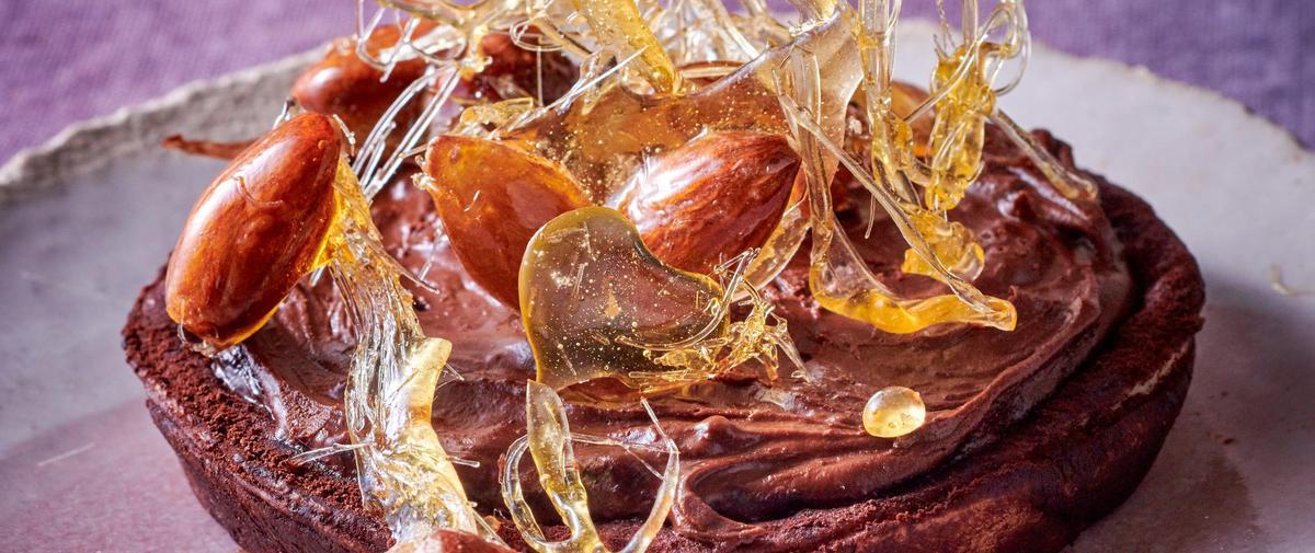 Tarte pralinée et caramel