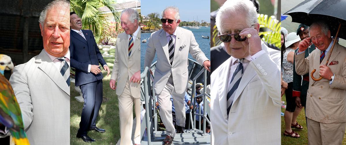 En photos : le prince Charles, un gentleman décomplexé sous le soleil des Caraïbes