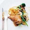 Pigeon du Mont Royal et légumes d'automne