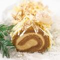 Bûche de Noël à la crème de marron et au chocolat