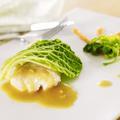 Filet de cabillaud, chou vert, beurre de gingembre par Olivier Bellin