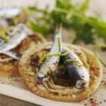 Tarte à l'oignon doux des Cévennes et sardines moelleuses