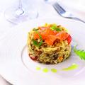 Salade fraicheur de céréales de campagne au saumon