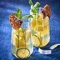 Thé glacé ananas menthe