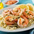 Spaghetti aux crevettes (sans gluten, ni œuf, ni lait)