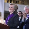 Pourquoi Hillary Clinton portait du violet lors de son discours de défaite