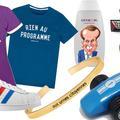 Préservatifs, calendrier chaton et Formule 1 : les goodies les plus insolites de la présidentielle