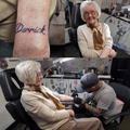 À 82 ans, une mamie se fait tatouer pour la première fois en hommage à son défunt mari