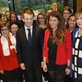 Visite avec Emmanuel Macron de Gecina, l'entreprise la plus paritaire de France
