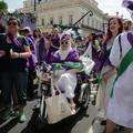 """Les """"suffragettes"""" britanniques ont célébré le centenaire de leur droit de vote"""