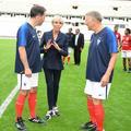 """Brigitte Macron en """"crampons"""" Louis Vuitton au Stade de France"""