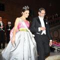 Vingt-trois ans après, la princesse Victoria de Suède porte une robe de bal ayant appartenu à sa mère