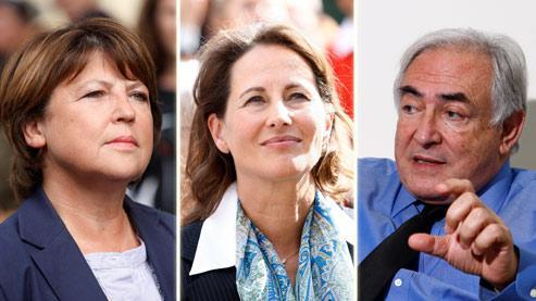 Si Ségolène Royal (au centre) et d'autres se préparent ouvertement à la présidentielle de 2012, Martine Aubry et Dominique Strauss-Kahn sont toujours donnés comme favoris pour y représenter le PS.