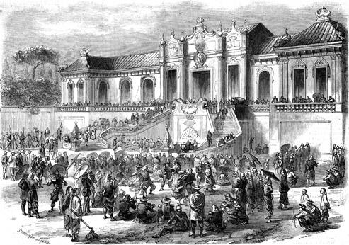 Le 6 octobre 1860, pendant la deuxième guerre de l'opium (1856-1860),les troupes françaises envahissent et saccagent le palais d'Été, à Pékin.