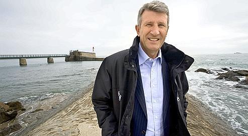 Philippe de Villiers aux Sables- d'Olonne, en octobre 2008, avant le départ du Vendée Globe.