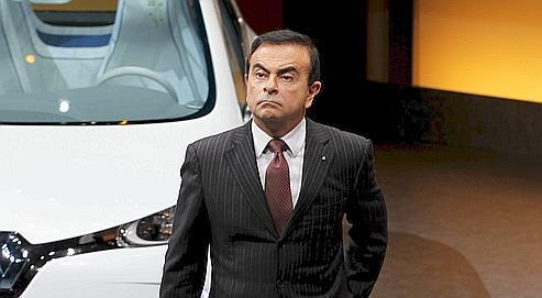 Carlos Ghosn, PDG de Renault, dévoilele nouveau plan stratégique du groupe pour 2013, le 10 février dernier.