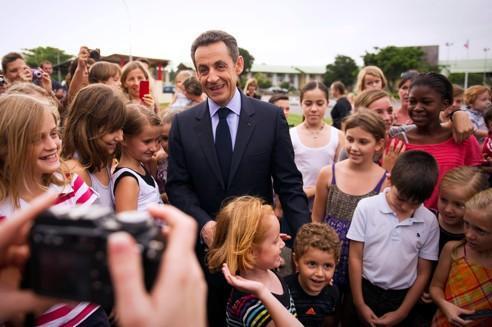 Nicolas Sarkozy, samedi, à Cayenne.
