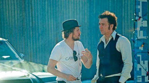 Tournage dans les rues de New York de «Blood Ties», réalisé par Guillaume Canet <br/>(à gauche), avec Clive Owen.