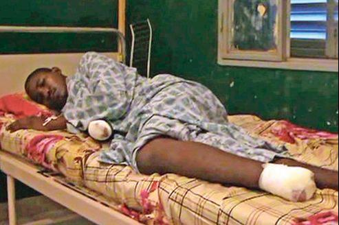 Soupçonné de vol, cet homme a eu la main droite et le pied gauche tranchés par les islamistes de la Mujao,le 10 septembre à Gao.