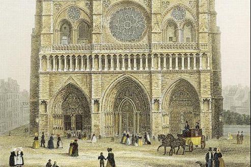 Notre-Dame, «Église métropolitaine», gravure de Claude H. Chamouin.