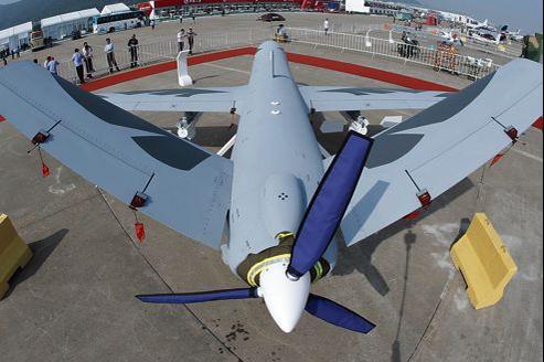 Le Wing Loong (Les ailes du dragon), un drone de combat de type Predator présenté au salon aéronautique de Zhuhai, en novembre.