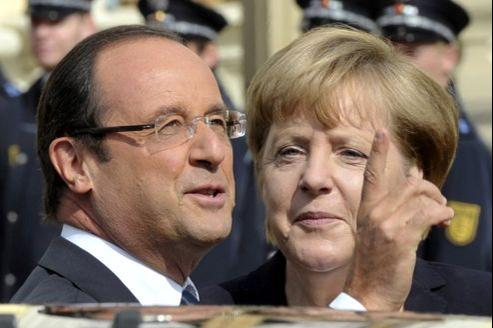 François Hollande et Angela Merkel, le 22 septembre, en Allemagne.