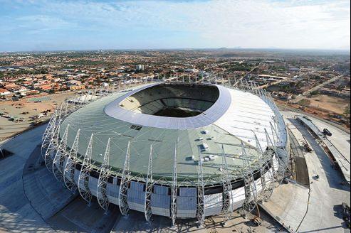 Vue aérienne du stade Castelao, à Fortaleza au Brésil.
