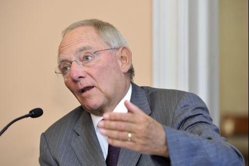 Wolfgang Schäuble, ministre allemand de l'Économie.