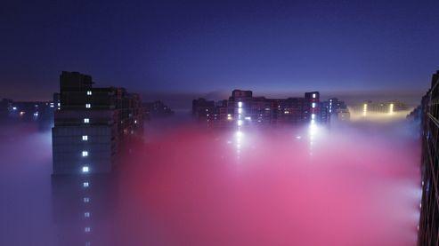 Du 1er au 28janvier, Pékin a connu 23 journées de «smog», mélange de pollution et d'un brouillard très dense (ici le 22 janvier dernier).