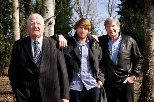 De gauche à droite: Laurent, Philippe (fils de Guy) et Walter Spanghero.
