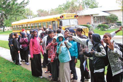 Les élèves de la Lawrence Heights Middle School, qui appartient au réseau des «écoles modèles» accueillant un public défavorisé dans la banlieue de Toronto.