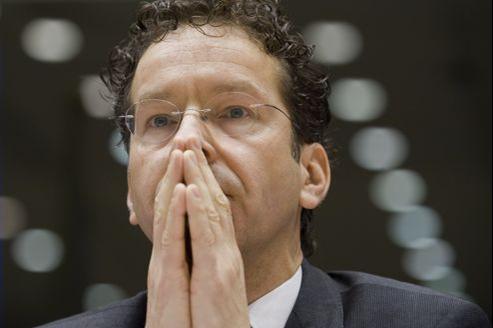 Jeroen Dijsselbloem, président de l'Eurogroupe, jeudi à Bruxelles.