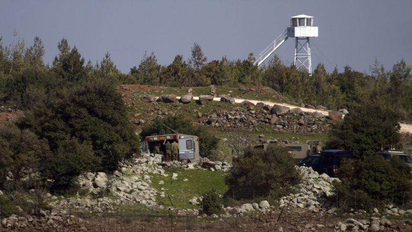 Des rebelles syriens sont soignés dans un hôpital de campagne israélien sur le plateau du Golan, près de la frontière avec la Syrie.