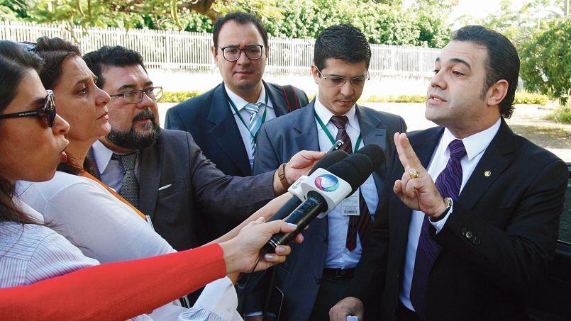 Le pasteur évangélique Marco Feliciano (ici à Brasilia, mercredi) s'est imposé à la tête de la commission des droits de l'homme du Parlement, malgré des propos controversés sur l'égalité entre hommes et femmes